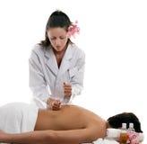 Terapias del masaje - movimientos de la percusión Foto de archivo libre de regalías