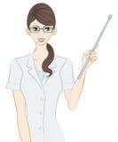 Terapista, bastone del puntatore illustrazione vettoriale