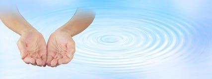 Terapista curativo dell'acqua Immagini Stock