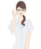 Terapista, segno GIUSTO royalty illustrazione gratis