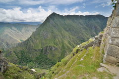 Terassenförmig angelegte Felder Machu Picchu peru Lizenzfreies Stockbild