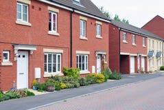 Terassenförmig angelegte Häuser stockbilder