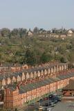 Terassenförmig angelegte Häuser Lizenzfreie Stockfotografie