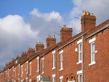 Terassenförmig angelegte Häuser Lizenzfreies Stockfoto