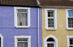 Terassenförmig angelegte Häuser Stockbild