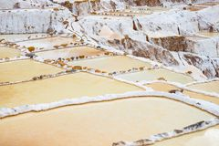 Terassenförmig angelegte Salzpfannen alias Lizenzfreies Stockbild