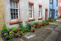Terassenförmig angelegtes Häuschen-Yard lizenzfreie stockfotos