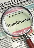 Teraz Zatrudniać Headhunter 3d zdjęcia stock