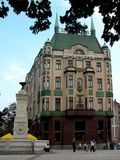 Terazije. Is the main square in Belgrade, Serbia. In its very centre, there is a fountain, built in 1860, by duke Milos Obrenovic. Hotel Moskva (Moscow) is Royalty Free Stock Images