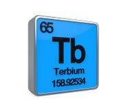 Terbium Element Periodic Table Royalty Free Stock Photo