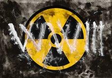 Terceira guerra mundial e aviso nuclear Imagens de Stock Royalty Free
