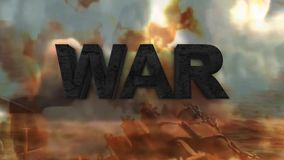 A terceira guerra mundial O perigo de guerra ilustração royalty free