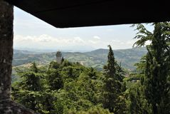 A terceira torre de São Marino, Montale imagem de stock royalty free