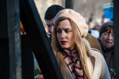 Terceiro aniversário das matanças de ativistas de Euromaidan Imagens de Stock Royalty Free