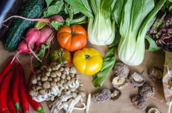 Terceiro grupo de vegetais selecionados da qualidade e de um outro alimento Fotos de Stock