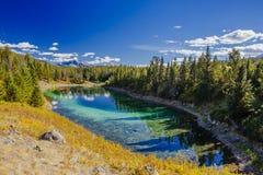 Terceiro lago, vale dos 5 lagos, Jasper National Park, Alberta Imagens de Stock