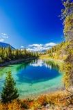 Terceiro lago, vale dos 5 lagos, Jasper National Park, Alberta Foto de Stock Royalty Free