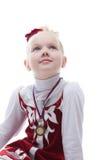 Terceiro lugar ganhado patinador artística na competição Foto de Stock