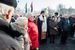 Tercer aniversario de las matanzas de los activistas de Euromaidan Fotografía de archivo libre de regalías