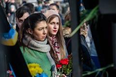 Tercer aniversario de las matanzas de los activistas de Euromaidan Foto de archivo