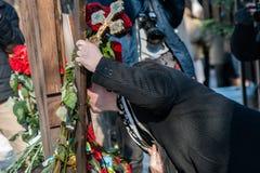 Tercer aniversario de las matanzas de los activistas de Euromaidan Foto de archivo libre de regalías
