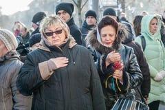 Tercer aniversario de las matanzas de los activistas de Euromaidan Imágenes de archivo libres de regalías