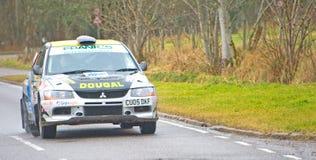 Tercer coche colocado en la reunión 2012 del muñeco de nieve. Fotos de archivo libres de regalías