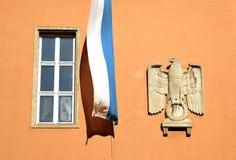 Tercer Reich Eagle en la oficina recaudatoria de impuesto estatal bávara, Munich, Baviera foto de archivo libre de regalías