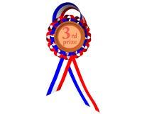 Tercera medalla premiada Foto de archivo libre de regalías