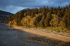 Tercera playa en Stanley Park Imagen de archivo libre de regalías