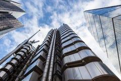 Tercet drapacze chmur w mieście Londyn Obrazy Royalty Free