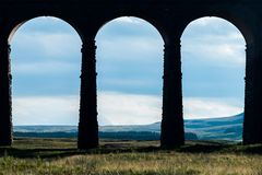 Tercet łuki przy Ribblehead wiaduktem, Yorkshire Fotografia Royalty Free