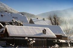TERCHOVA Slovakien-Januari 16 Royaltyfri Fotografi