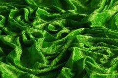 Terciopelo machacado verde foto de archivo libre de regalías