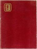 Terciopelo rojo con ?G? o ?9? | Fondo Imagenes de archivo