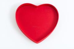 Terciopelo rojo del corazón Foto de archivo