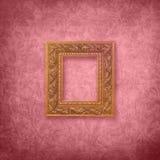 Terciopelo rosado con el marco Foto de archivo libre de regalías