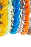 Terciopelo y pulseras de cadena Fotos de archivo