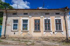 Terebovlia in Ukraine. Old house in Terebovlia town, Ukraine Stock Photos