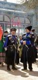 Terek哥萨克人军队的哥萨克人。 库存图片