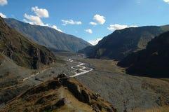 Terekh river, Caucasian mountains, Georgia Stock Images