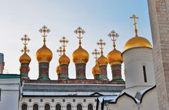 Terem churches of Moscow Kremlin. Color photo. Royalty Free Stock Images