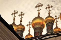 Terem churches of Moscow Kremlin. Color photo. Stock Photography