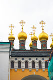 Terem churches. Moscow Kremlin. UNESCO Heritage Site. Royalty Free Stock Photo