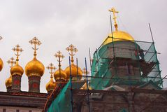 Terem churches. Moscow Kremlin. UNESCO Heritage Site. Royalty Free Stock Photography