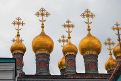Terem churches. Moscow Kremlin. UNESCO Heritage Site. Stock Image