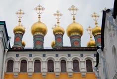 Terem churches. Moscow Kremlin. UNESCO Heritage Site. Stock Photography