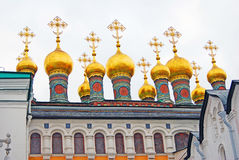Terem churches in Moscow Kremlin Stock Photos