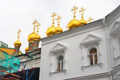 Terem churches. Moscow Kremlin. UNESCO World Heritage Site. Royalty Free Stock Photos