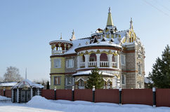Teremok in the city of Vyshniy Volochek. A beautiful fairy-tale house Royalty Free Stock Images